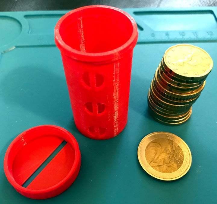 IMG_2882.jpeg Télécharger fichier STL gratuit UFS-044 Détenteur de pièces de deux euros • Objet à imprimer en 3D, jouletime