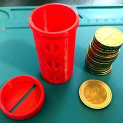 IMG_2882.jpeg Download free STL file UFS-044 Two Euro Coin Holder • 3D printing design, jouletime