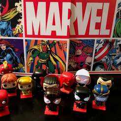 IMG_2250.jpg Download free STL file Character Base Only, Funko Advent Calendar Marvel Comic 80th Anniversary • 3D printing object, jouletime