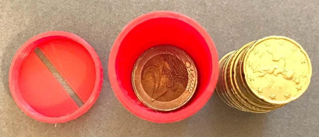 IMG_2892.jpeg Télécharger fichier STL gratuit UFS-044 Détenteur de pièces de deux euros • Objet à imprimer en 3D, jouletime