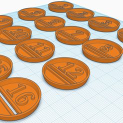 32mm slotta.png Download STL file Numbered Bases for Fantasy Football • 3D printing template, SirSpenceDesigns