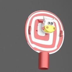Download 3D printing files Pen cap cow, engaminirani