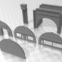 Viaduct Single 1.jpg Download STL file N Gauge Single Track Viaduct • 3D printer design, Planograph
