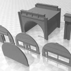 Viaduct Twin 1.jpg Download STL file N Gauge Viaduct Twin Track • Template to 3D print, Planograph