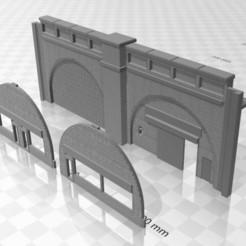 Viaduct Low relief 2.jpg Download STL file N Gauge Low Relief Viaduct • 3D print model, Planograph