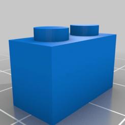 94add58137a7c0b5b8a24f4411c24945.png Télécharger fichier SCAD gratuit 2x1 brique ajustable en forme de lego • Plan imprimable en 3D, jcoehoorn