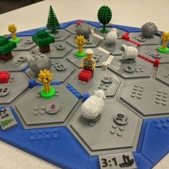 Download free STL Lego-style Settlers of Catan, jcoehoorn