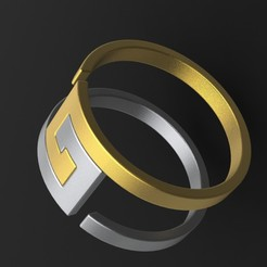 Download free 3D printing files pair able ring, saeedyouhannae