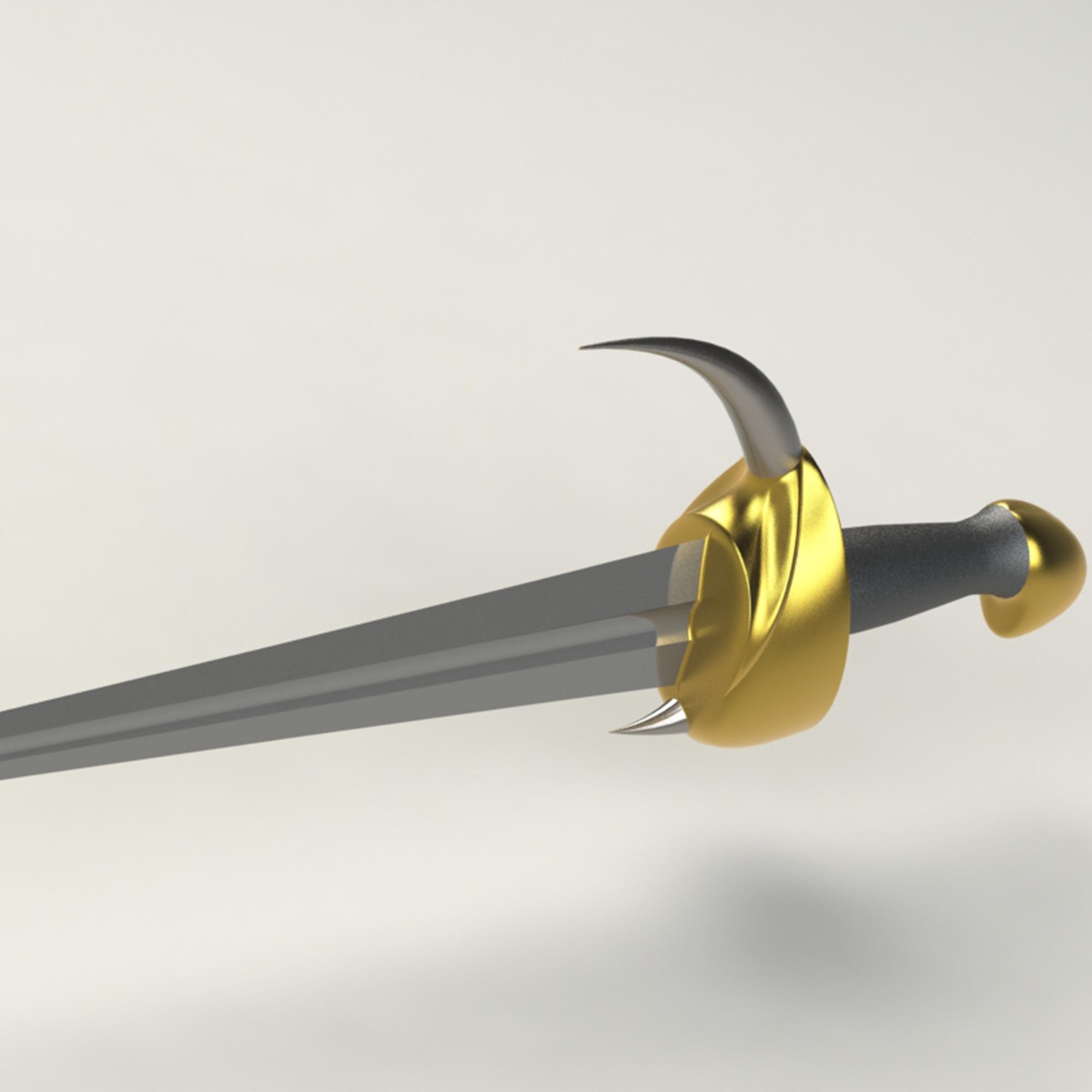 4.jpg Télécharger fichier 3DS gratuit épée à cornes • Plan imprimable en 3D, saeedyouhannae