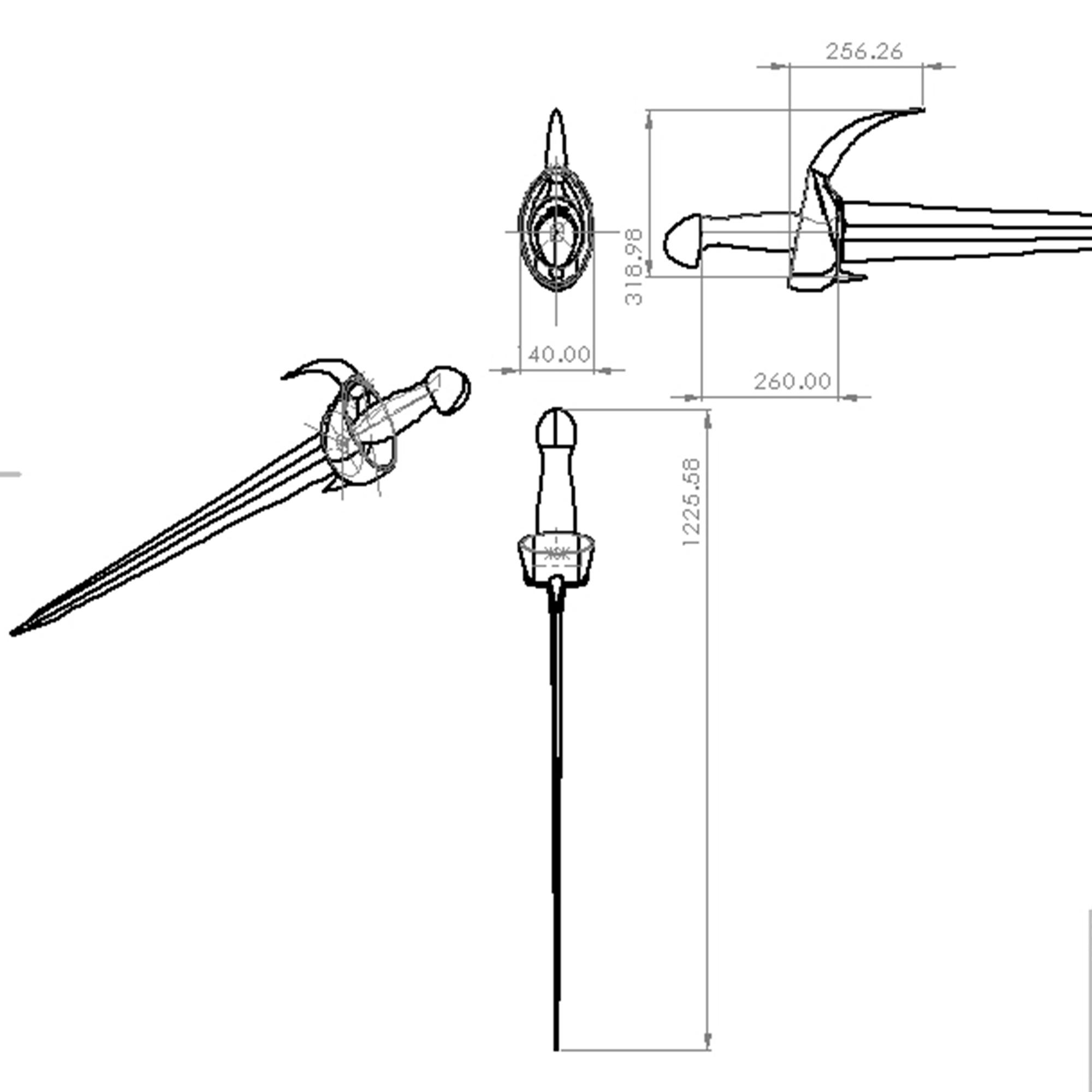 11.jpg Télécharger fichier 3DS gratuit épée à cornes • Plan imprimable en 3D, saeedyouhannae