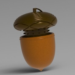 Download STL file acorn- weed grinder • 3D printable design, saeedyouhannae