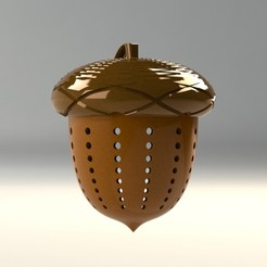 1.jpg Download STL file acorn- tea strainer • 3D printer design, saeedyouhannae