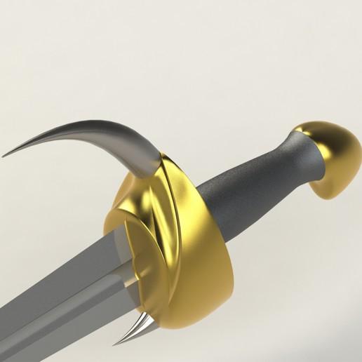 7.jpg Télécharger fichier 3DS gratuit épée à cornes • Plan imprimable en 3D, saeedyouhannae
