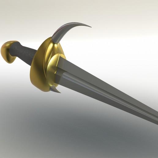 5.jpg Télécharger fichier 3DS gratuit épée à cornes • Plan imprimable en 3D, saeedyouhannae