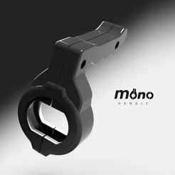 Mono render 5.jpg Download STL file Universal Handle for Scooter • Object to 3D print, erikdelgallo