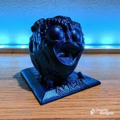 Download 3D printing templates Alien face, erikdelgallo