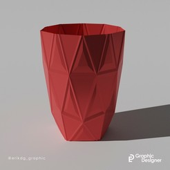 vaso erik.jpg Download STL file Another Polygonal vase • 3D print design, erikdelgallo