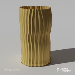 vaso erik 2.jpg Télécharger fichier STL gratuit Vase lisse • Objet à imprimer en 3D, erikdelgallo