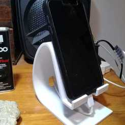 Descargar STL A3D Phone Holder v1 Slim for charger and headphones, cozziaugusto3d