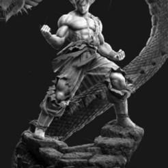 Télécharger fichier STL gratuit Dragon Ball Goku avec le dragon • Design à imprimer en 3D, 275728854