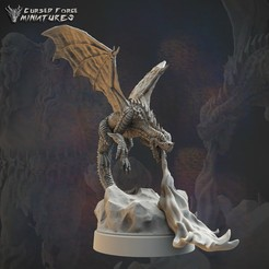 reddragon_solo.jpg Download STL file Red dragon rpg miniature d&d • 3D printing design, cursedforgeminiatures
