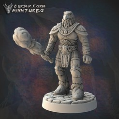ambergolem_1350X1350.jpg Download STL file Pre-supported amber golem • 3D printable template, cursedforgeminiatures