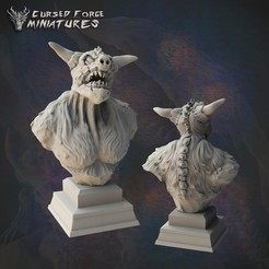 dretchbust_01_1350X1350.jpg Download STL file DRETCH BUST D&D • 3D printable object, cursedforgeminiatures