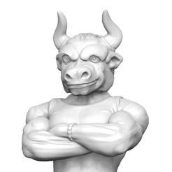 01.jpg Download OBJ file Bull man 2021 • 3D printer object, Dreameks