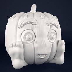 Download 3D printing designs Pumpkin halloween , Dreameks