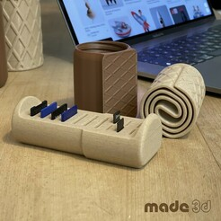 S_1.jpg Download STL file COOKIE BOX // CHOCO-WAFFLE-ROLL // SIZE S • 3D printing object, made3d