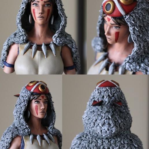 Descargar STL gratis Princess Mononoke Bust, Lucyef