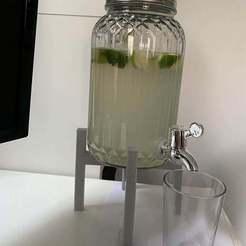 unnamed-min_1.jpg Download free STL file IKEA VARDAGEN Drink Dispenser Increase Stand Rack || Flowerpot Stand • 3D printer object, patrickhallek