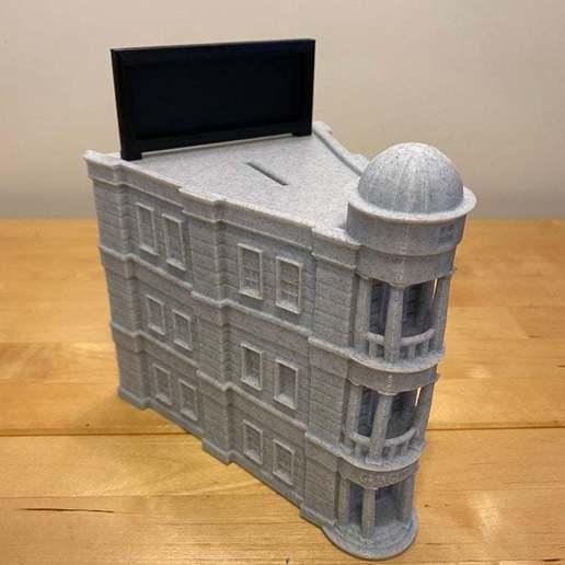 IMG_6303.JPG Télécharger fichier STL gratuit Panneau sur le toit de la banque Gringotts • Design imprimable en 3D, eberproducts