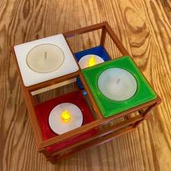 Download free STL files Stackable Tea-Light  Holder, eberproducts