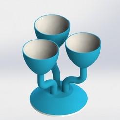 Untitledkojoj.JPG Descargar archivo STL gratis Tri-florero • Diseño para la impresora 3D, SebasG11