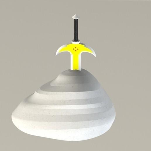 Descargar diseños 3D Espada en la piedra, SebasG11