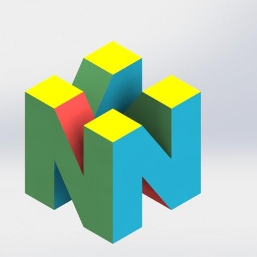 download free 3d print files nintendo 64 logo ・ cults