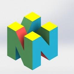 Download 3D print files Nintendo 64 logo, SebasG11