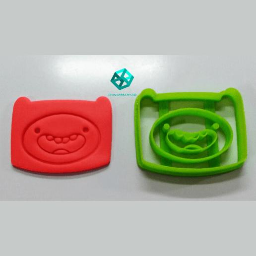 Télécharger fichier imprimante 3D FINN ADVENTURE TIME COOKIE CUTTER, ThingsMary3D