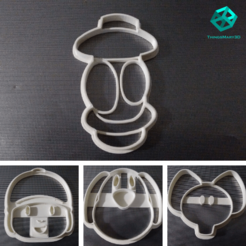 Download 3D printing designs DUCK COOKIE CUTTER POCOYO, ThingsMary3D