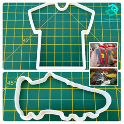 Design sem nome.png Télécharger fichier STL DES CHAUSSURES DE FOOTBALL ET UN EMPORTE-PIÈCE POUR CHEMISE • Modèle à imprimer en 3D, ThingsMary3D