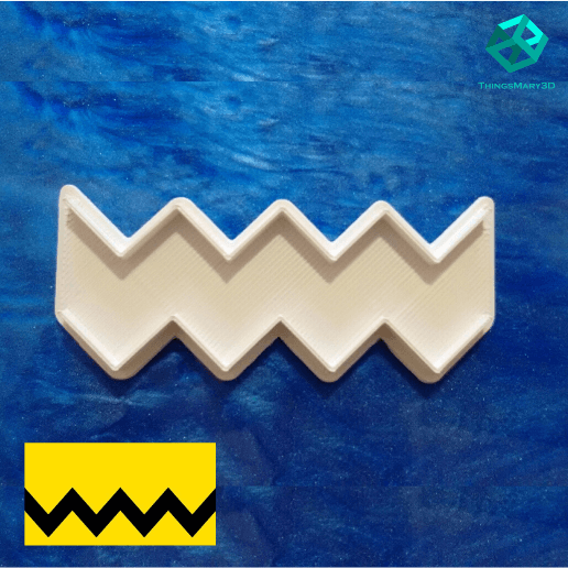 Download 3D printer templates ZIGZAG SNOOPY COOKIE CUTTER, ThingsMary3D