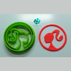 Design sem nome.png Download STL file BARBIE COOKIE CUTTER • 3D printable object, ThingsMary3D
