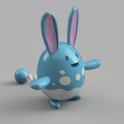 AZUMARILL_2020-Jun-29_12-48-16AM-000_CustomizedView11435569162_png.png Download STL file Azumarill Pokémon • Design to 3D print, arquishock