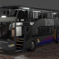 thumnail hino hybrid.png Download STL file Hino Double Decker (Hybrid) • 3D printable object, ZoneID