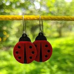 IMG_20200719_123052_ořez.jpg Download free 3MF file Ladybug Earrings • 3D printer template, PhiGl