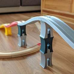 Download free 3D printer files Bridge pillar for Ikea/Brio train track, PhiGl
