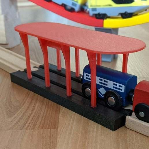 Download free STL file Train Station for Ikea/Brio train track, PhiGl