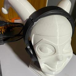 Download free 3D printing models Harley Quinn headphone stand, Xshaos