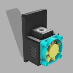 da_vinci_jr_1.0_hotend_quick_release_v6_asembled.png Download free STL file Another Da Vinci Jr e3d v6 HotEnd Quick Release • 3D printer template, IngDonovan
